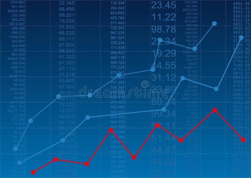 tła diagramów pieniężny oer pióra raportu biel obraz stock