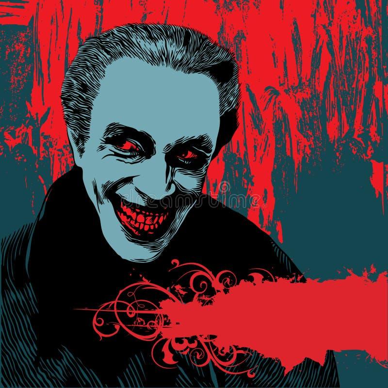 tła Dracula wampir ilustracja wektor