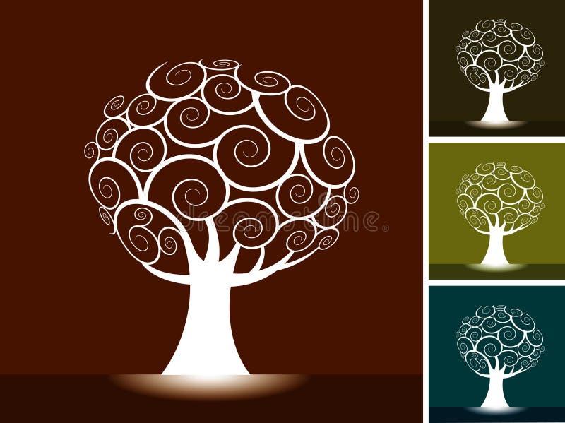 tła drzewni ilustracji