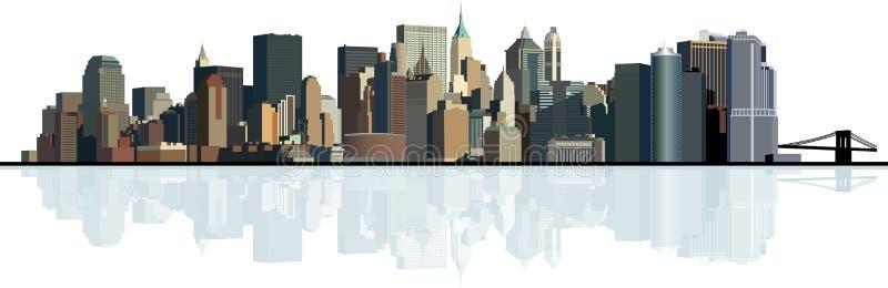 tła duży miasta panorama miastowa ilustracji