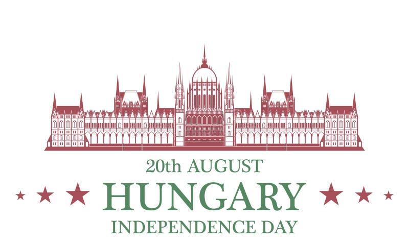 tła dzień grunge niezależność retro Węgry ilustracji