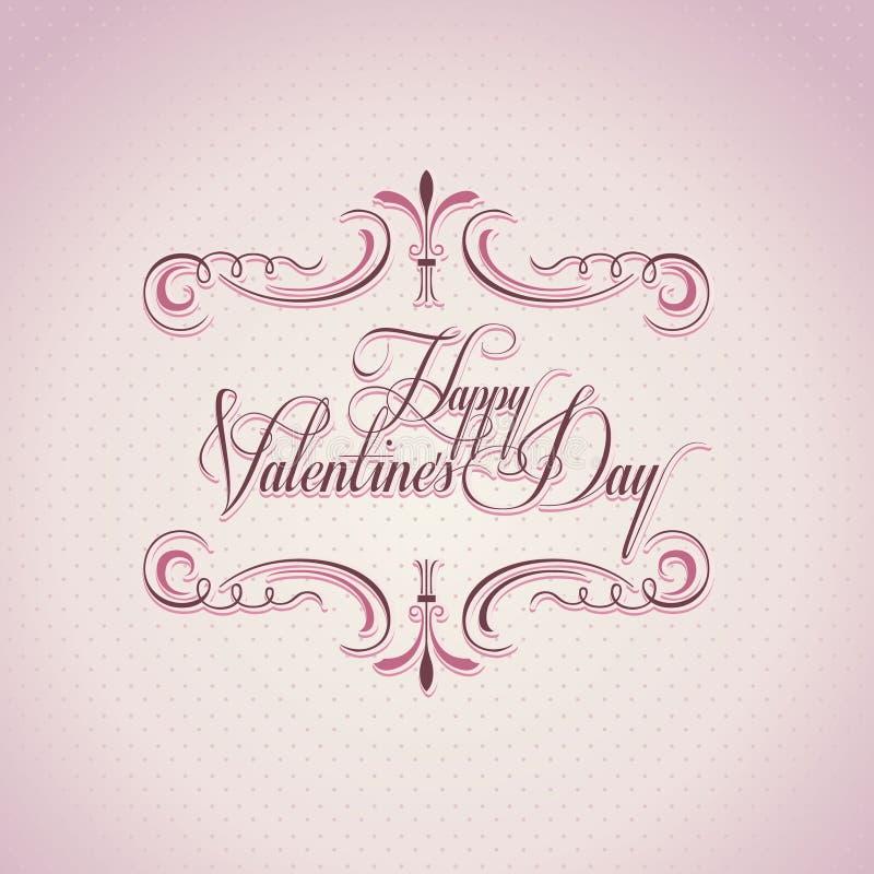 tła dzień s valentine rocznik ilustracja wektor