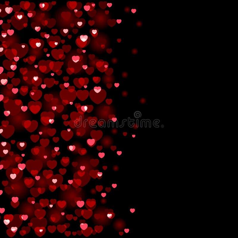 tła dzień serc s valentine ilustracja wektor