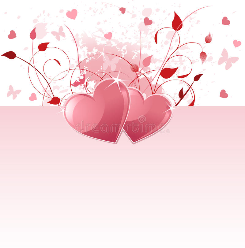 tła dzień valentine ilustracji