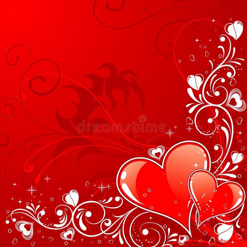 tła dzień valentines ilustracji