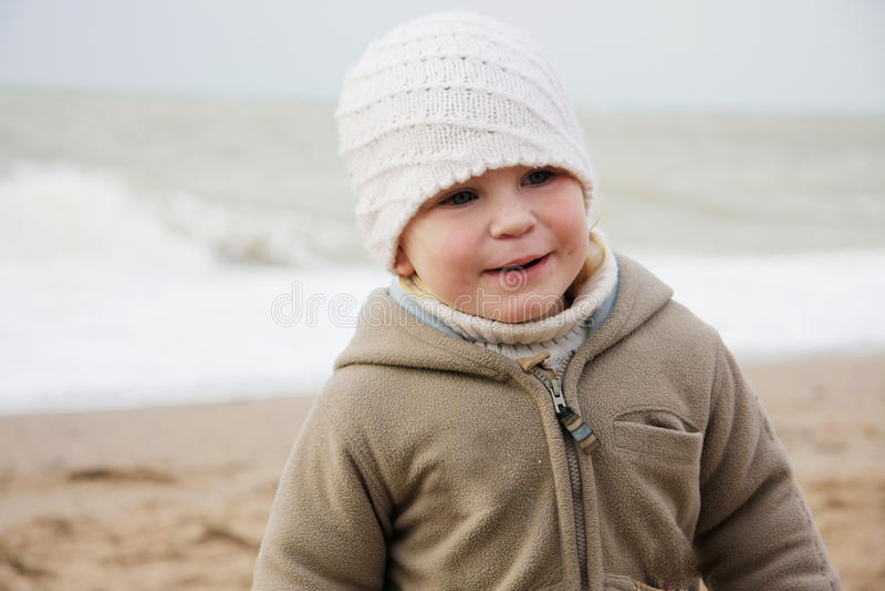 tła dziecka morza zima zdjęcie royalty free