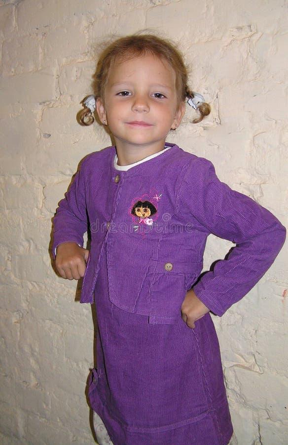 tła dziewczyny odosobneni pigtails biały zdjęcie stock