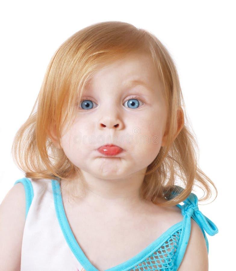 tła dziewczyny odosobniony biel fotografia stock