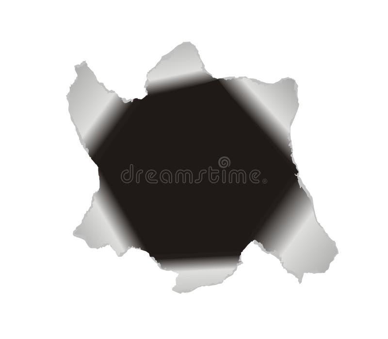 tła dziury wielkiego papieru wektoru biel ilustracji
