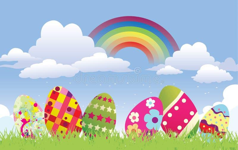 tła Easter jajka royalty ilustracja