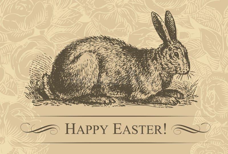tła Easter wektorowy rocznik ilustracji