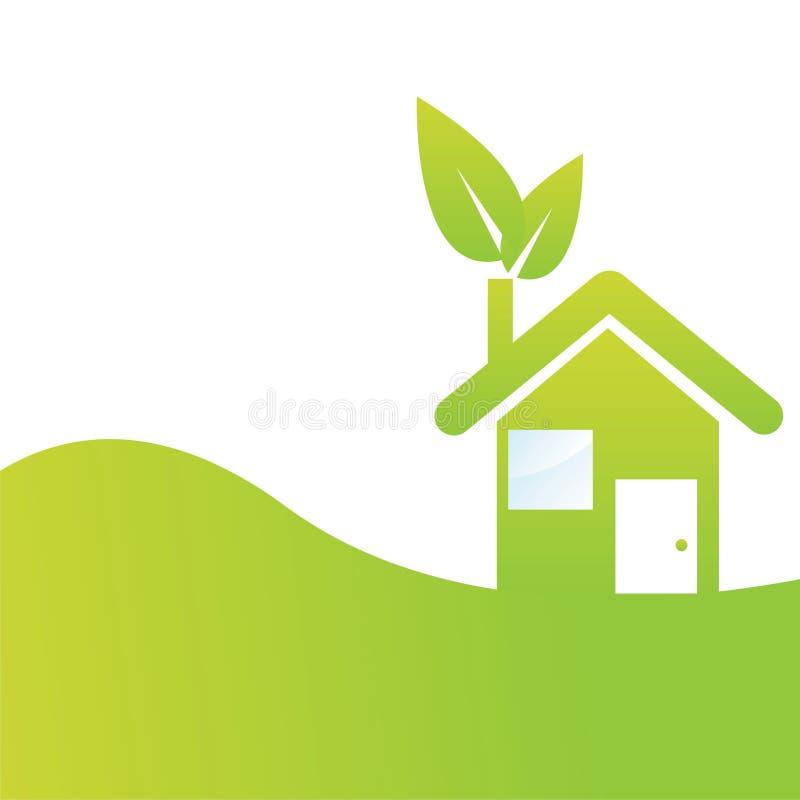 tła eco dom ilustracja wektor