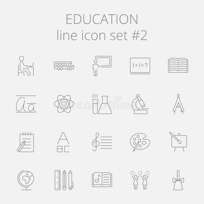 tła edukaci ikony odosobniony ustalony biel ilustracji