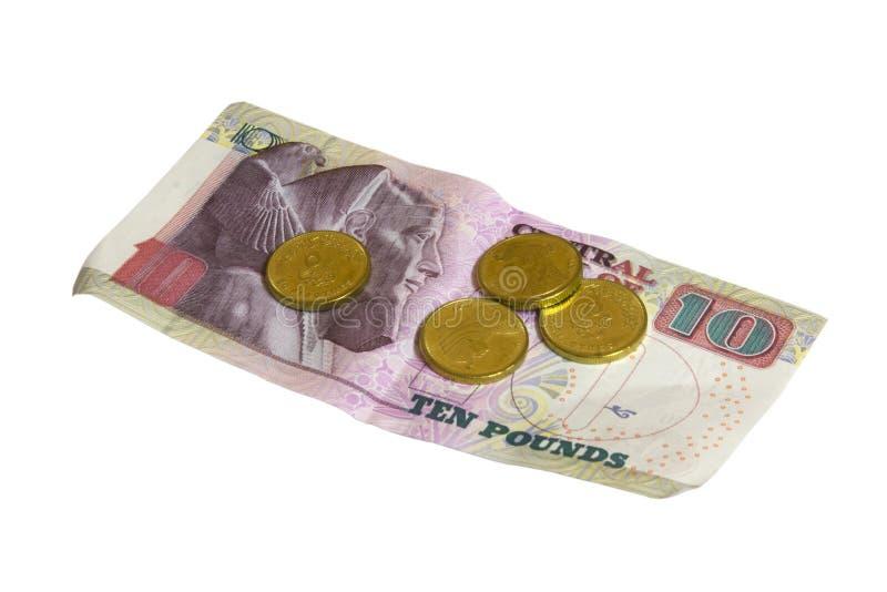 tła Egypt pieniądze biel zdjęcie stock