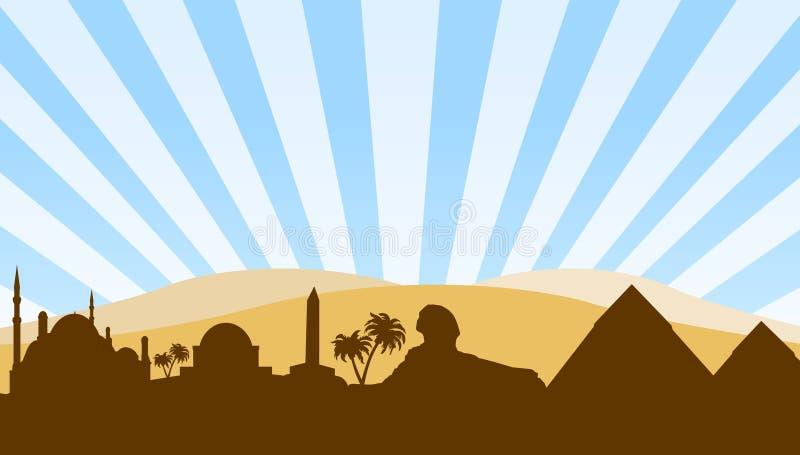 tła Egypt punkt zwrotny podróż ilustracji
