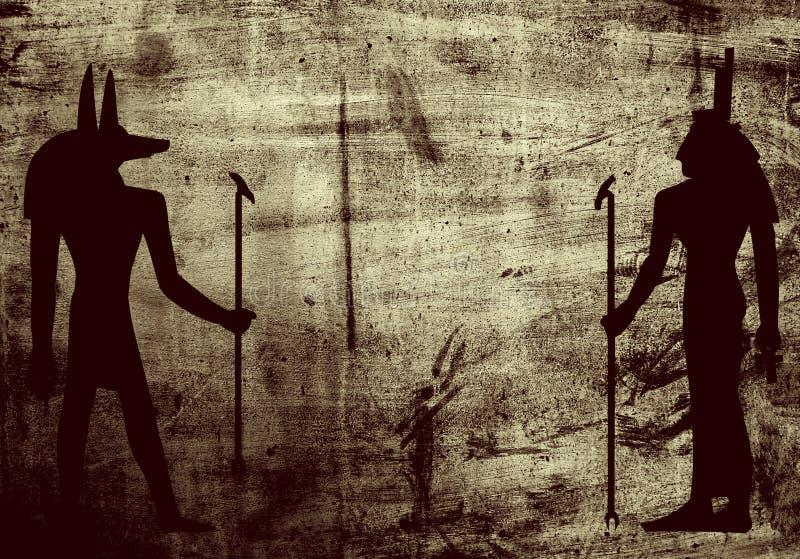 Tła Egypti Grunge Mitologii Symboli/lów ściana Obraz Stock