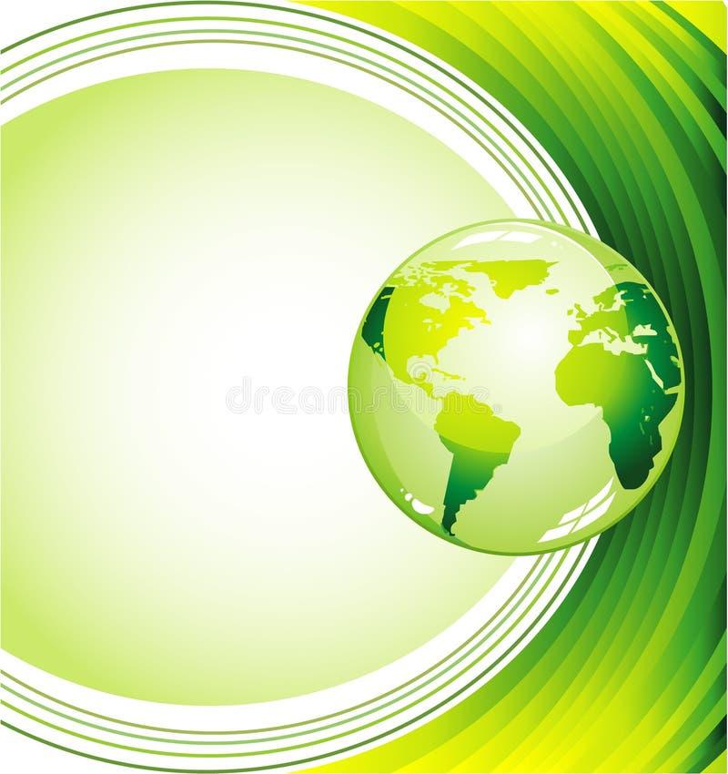 tła ekologii zieleń royalty ilustracja