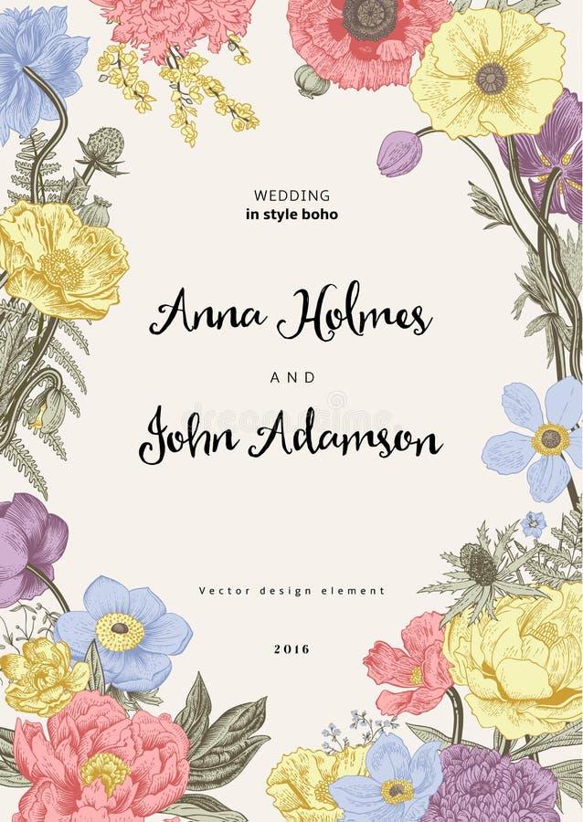 tła eleganci serc zaproszenia romantycznego symbolu ciepły ślub wiosna kwiat ilustracja wektor