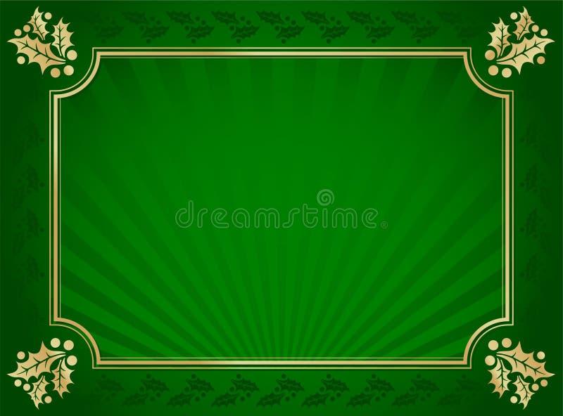 tła elegancki złota zieleni holly żyłujący zdjęcie royalty free