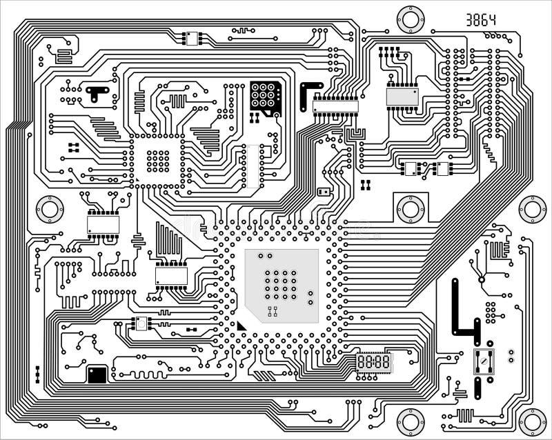 tła elektroniczny cześć przemysłowy techniki wektor royalty ilustracja