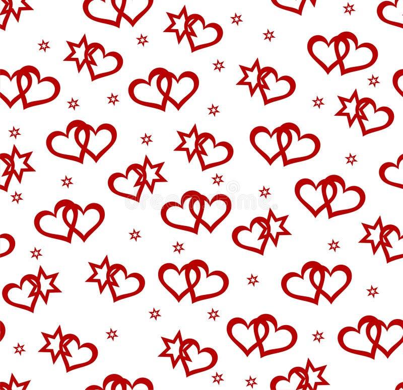 tła elementów serc bezszwowa gwiazda ilustracji