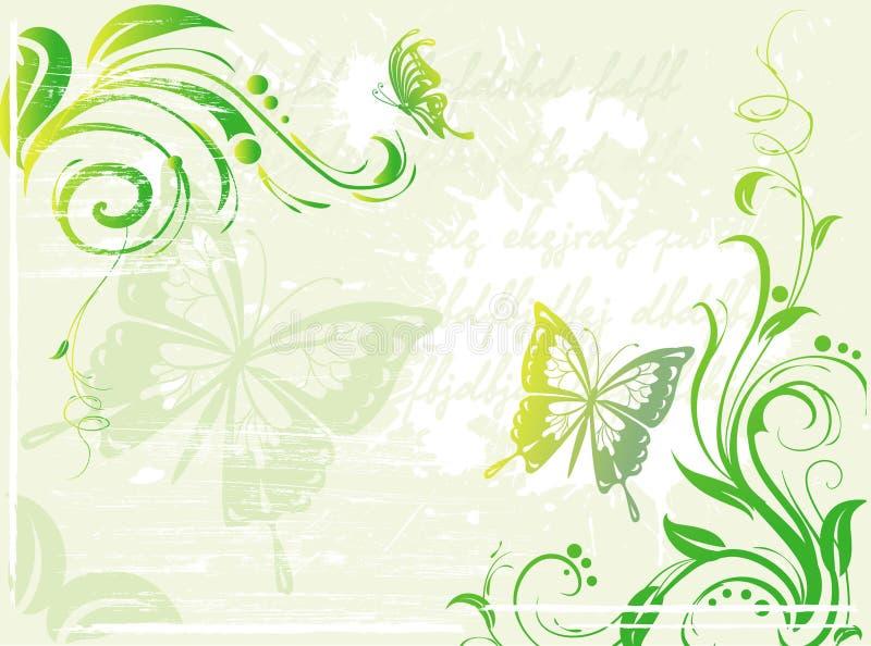 tła elementu kwiecisty zielony grunge ilustracji
