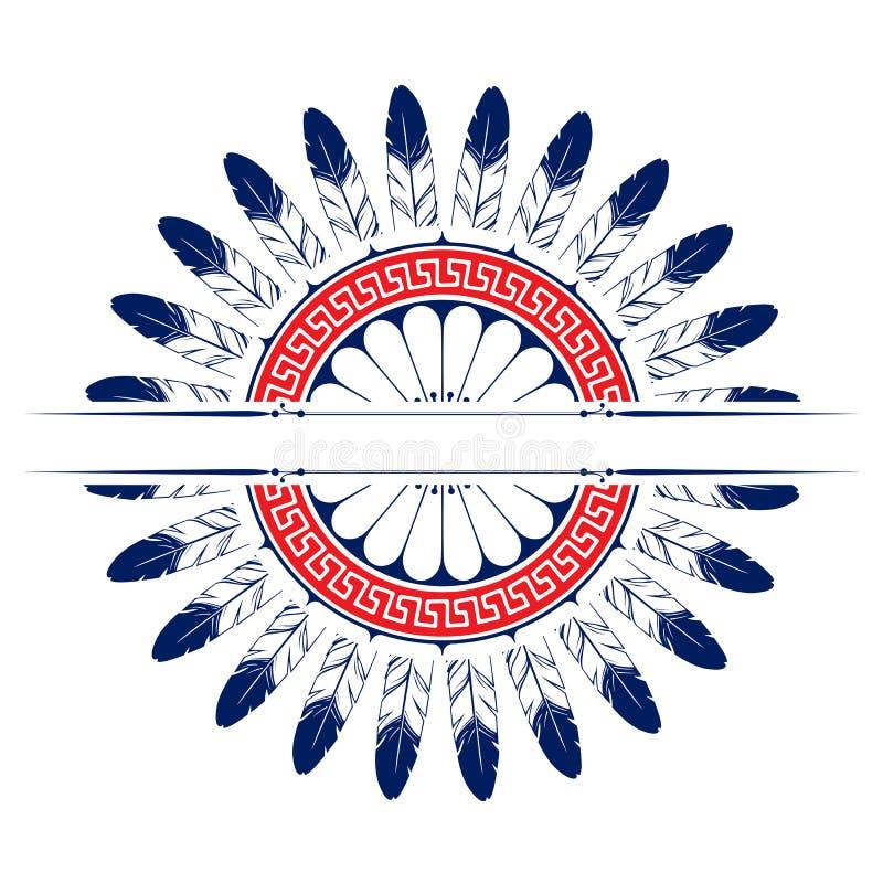 tła emblemata piórko royalty ilustracja