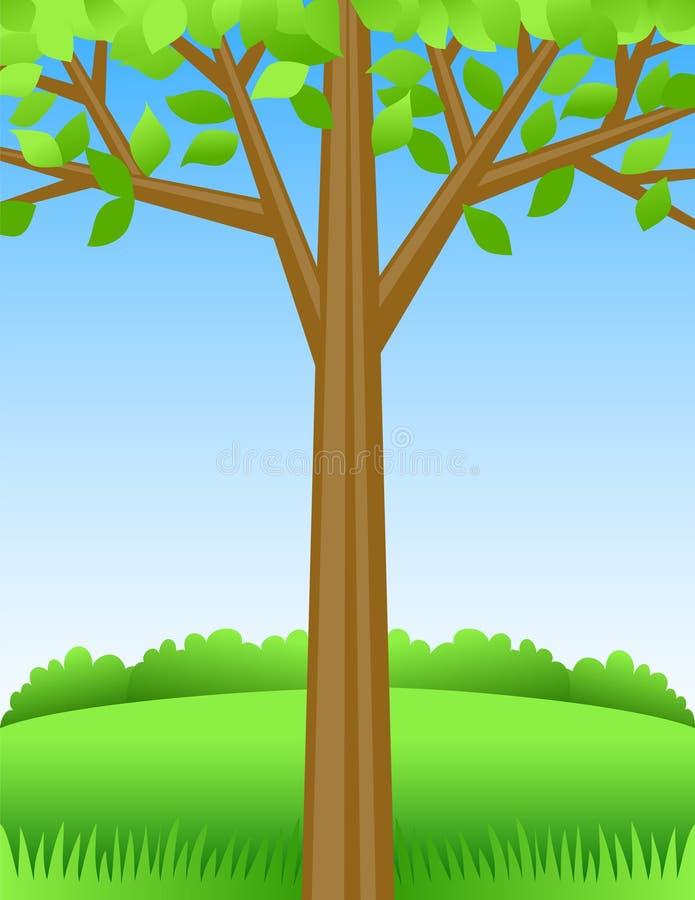 tła eps lato drzewo ilustracji