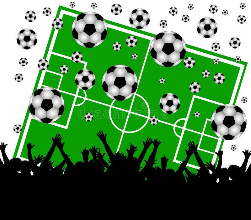 tła fan śródpolny piłki nożnej biel ilustracji