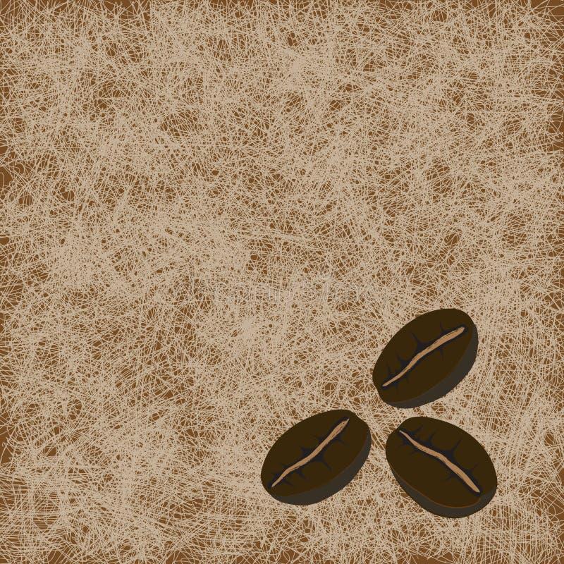 tła fasoli światło kawy światło trzy ilustracja wektor