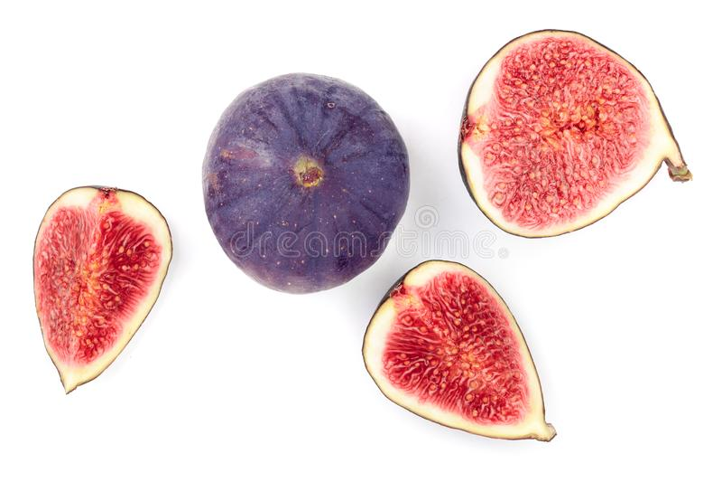 tła figi owoc odizolowywali biel Odgórny widok Mieszkanie nieatutowy wzór fotografia stock