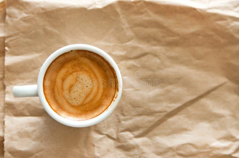 tła filiżanki kawa espresso odosobniony ścieżki biel obrazy stock