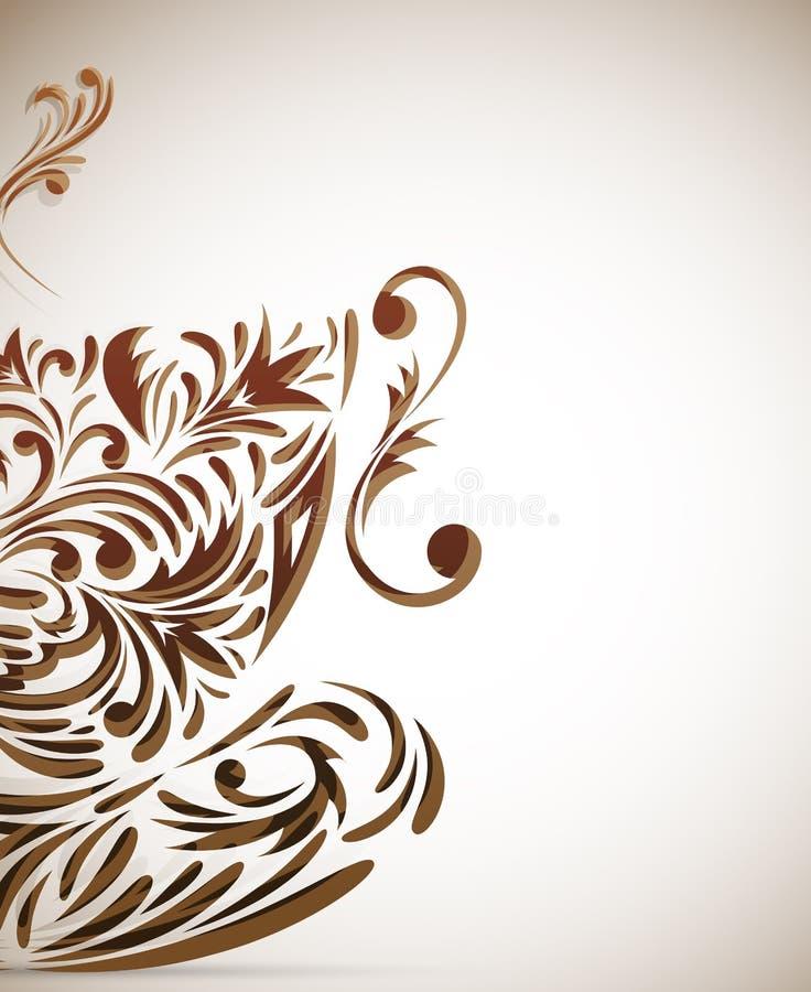 tła filiżanki styl ilustracja wektor