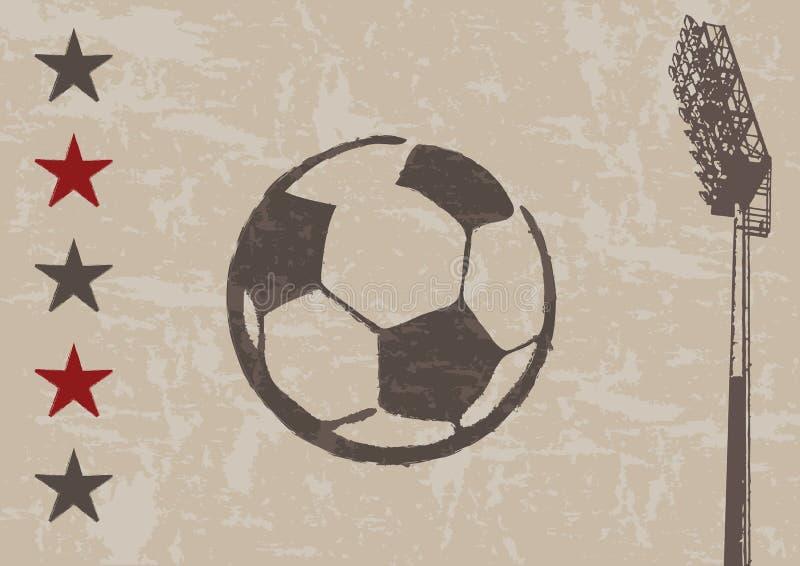tła floodlight futbolu grunge ilustracji