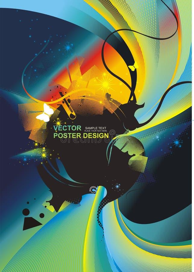tła futurystyczny kolorowy ilustracji