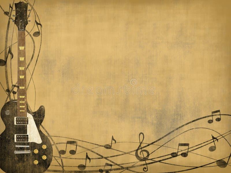tła gitary rocznik ilustracji