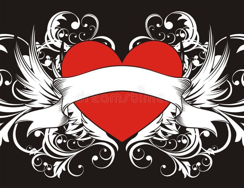 tła goth serce ilustracja wektor