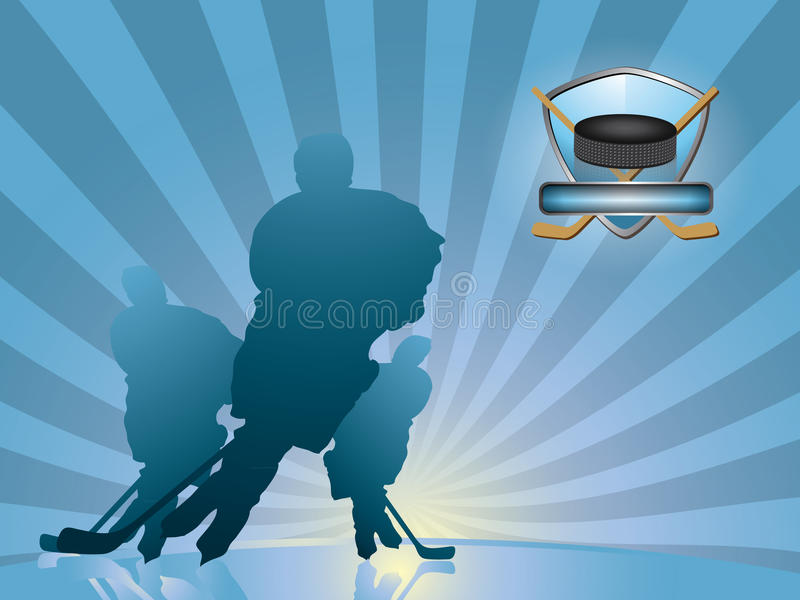 tła gracz w hokeja sylwetka royalty ilustracja