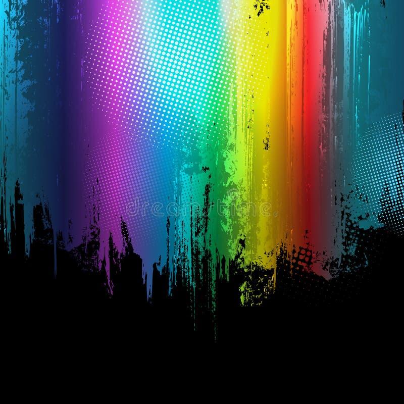 tła gradientowy farby pluśnięć wektor royalty ilustracja