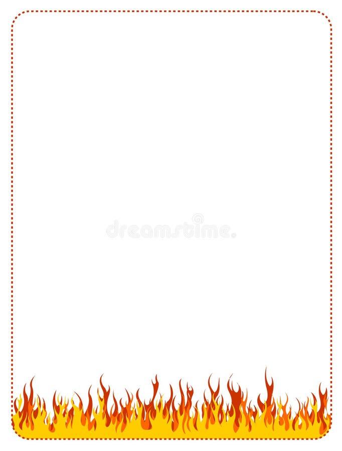 tła granicy ogienia sieć ilustracji