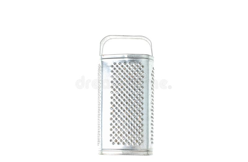tła grater odizolowywający metalu biel obrazy stock
