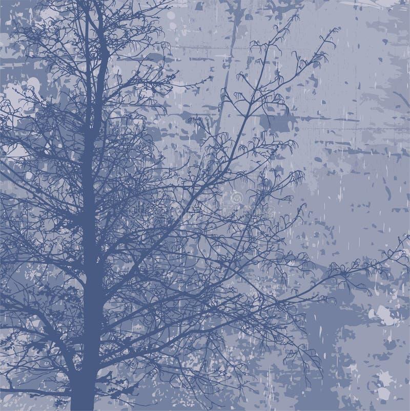 tła grunge drzewo royalty ilustracja