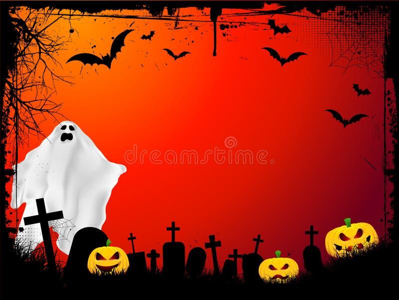 tła grunge Halloween ilustracji