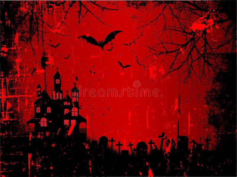 tła grunge Halloween royalty ilustracja