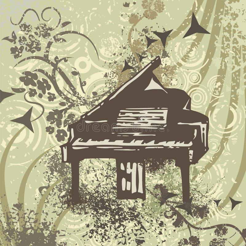 tła grunge instrumentu muzyka ilustracja wektor