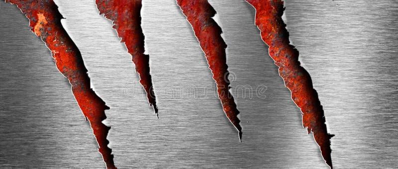 tła grunge metal nad ośniedziałą teksturą drzejącą obraz stock