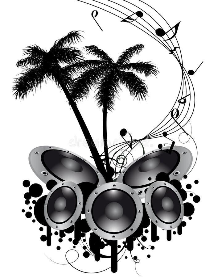 tła grunge musical ilustracja wektor