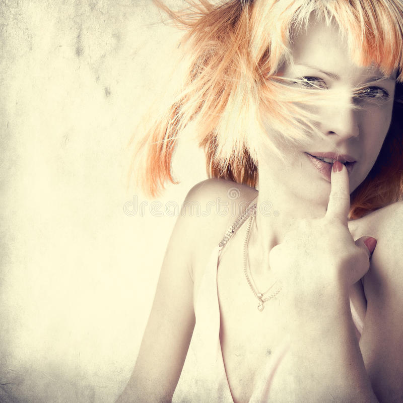 tła grunge portreta kobieta zdjęcie stock
