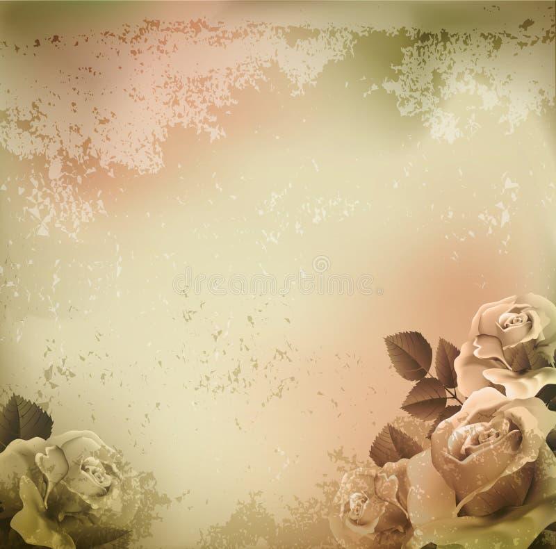 tła grunge róż wektorowy rocznik ilustracji