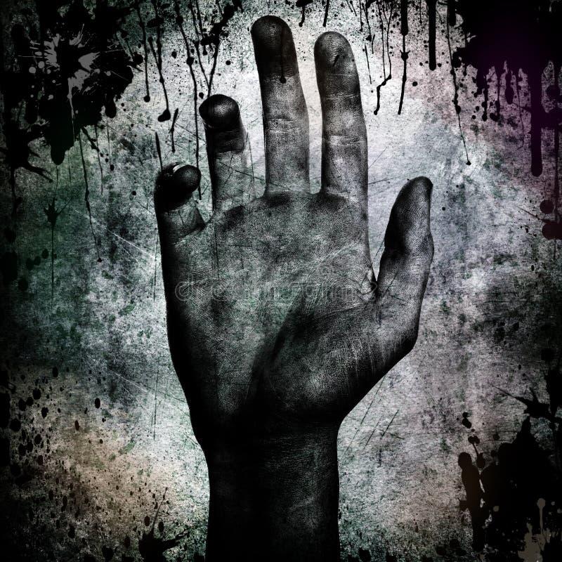 tła grunge ręka ilustracja wektor
